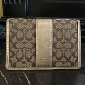 Authentic Coach Card Case Wallet - gold/khaki