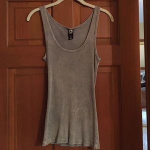 Distressed gray tank