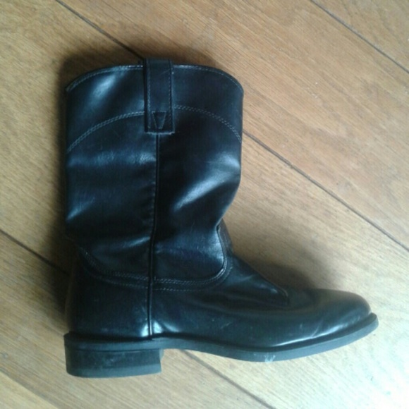 38 shoes black leather boots made in usa from