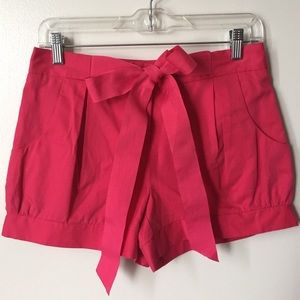 Top shop bright pink shorts size 4