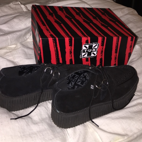 T.U.K Shoes | Tuk Black Suede Creepers