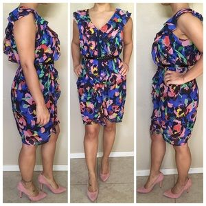 Multicolor Floral Print Sleeveless Dress