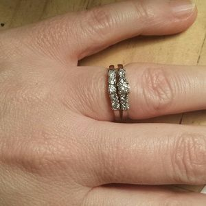 Jewelry - 14K White Gold Wedding ring set, NWOT