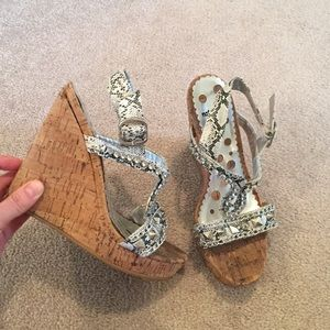 not rated Shoes - Studded Python Wedge