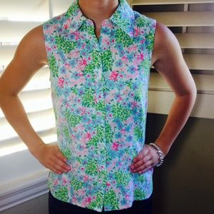 Lilly Pulitzer Tops - Lilly Pulitzer Sleeveless Tank Top