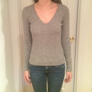 J. crew Gray Wool/ Cashmere Sweater