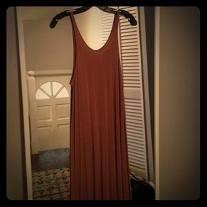 T by Alexander Wang maxi dress in clay sz M