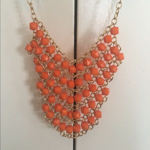 Jewelry - Orange and Gold Necklace Y5