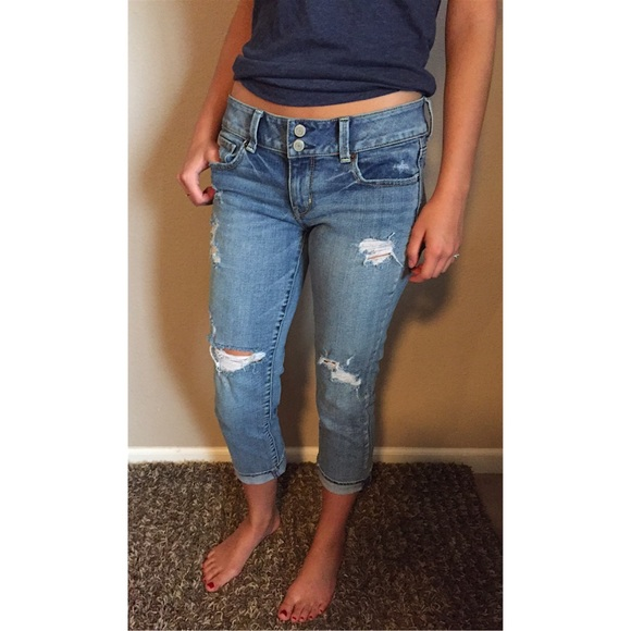Ripped Jean Capris - Is Jeans