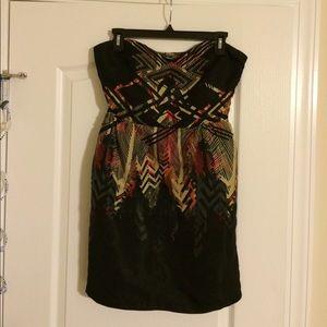 Strapless pocketed dress