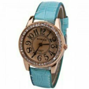 Blue Arabic number watch