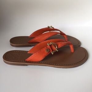 Tory Burch sandals orange size 7.5 new