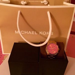 NWT Michael Kor 'runway' Iridescent Crystal Watch