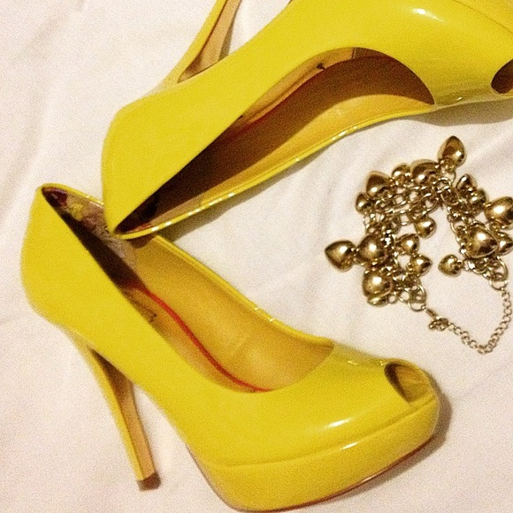 Ted Baker Shoes   Nwt Yellow Platform