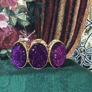 Jewelry - 🎀Host Pick🎀 Purple Glam Stretch Bracelet💃🏻🎉