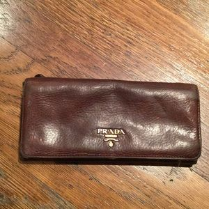 80% off Prada Clutches \u0026amp; Wallets - Prada Dark brown leather wallet ...