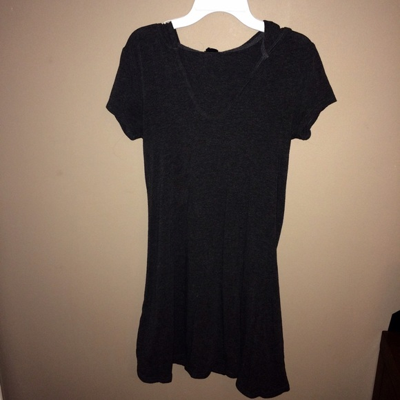 53 off forever 21 dresses skirts dark grey 21 t shirt for Dark grey shirt dress