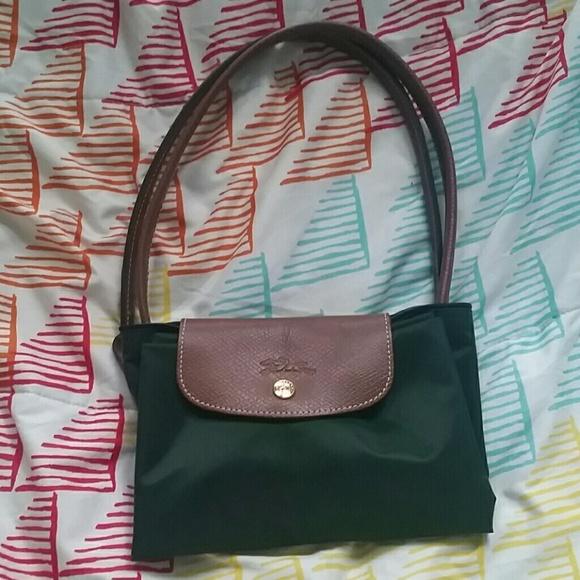 48% off Longchamp Handbags - Forest Green Longchamp Le Pliage Bag ...