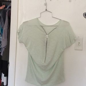 Zara shirt with zip up back