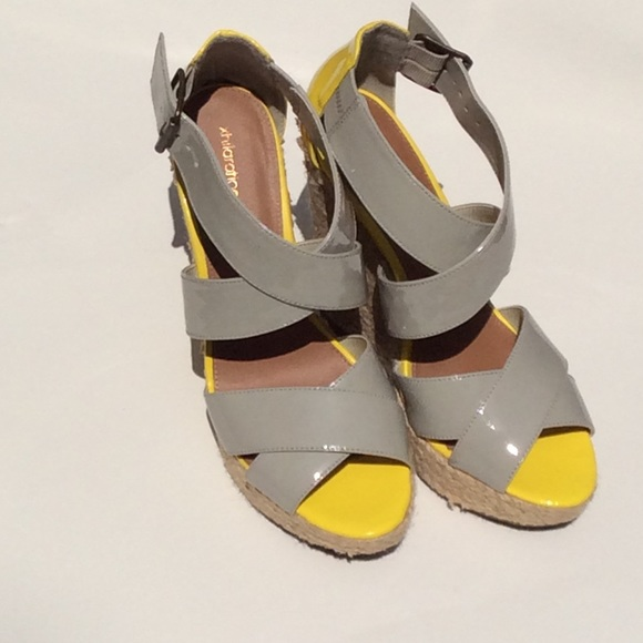 xhilaration grey wedge sandals from tasheena s closet on