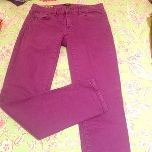 Jcrew stretch toothpick jeans