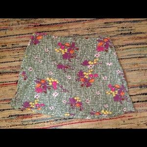 Free People fruit and floral print kitsch skirt