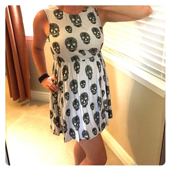 7523c132cae8 H&M Dresses | Hm Grey Sugar Skull Dress | Poshmark