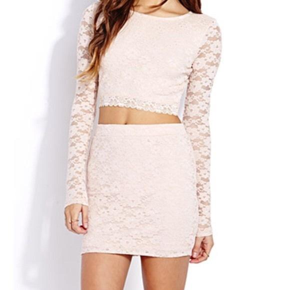 Forever 21 Dresses & Skirts - BRAND NEW 💛 F21 Feminine Lace Pencil Skirt