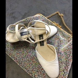 Bally white leather shoes made in Italy