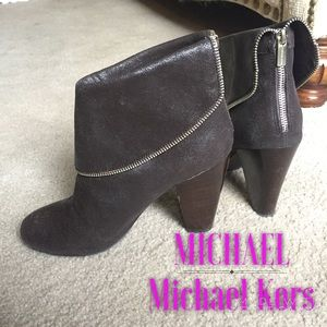 Michael Kors Metallic Brown Boots