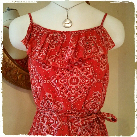 98% off Old Navy Dresses &amp Skirts - RED BANDANA-PRINT MEDIUM OLD ...