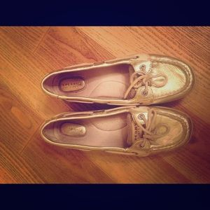 Sperry Top-Sider Shoes - Gold Sperry Topsiders