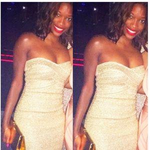 Dresses & Skirts - Gold bandage dress