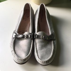 AGL light gold/silver flat slipper loafers