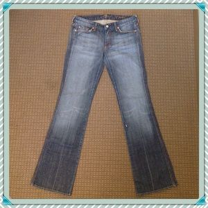 "NWOT 7 For All Mankind Jeweled ""A"" Pocket."