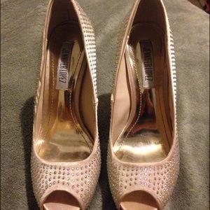 Jennifer Lopez Peep-Toe Platform High Heels