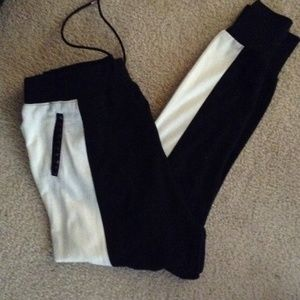 Black and White joggers