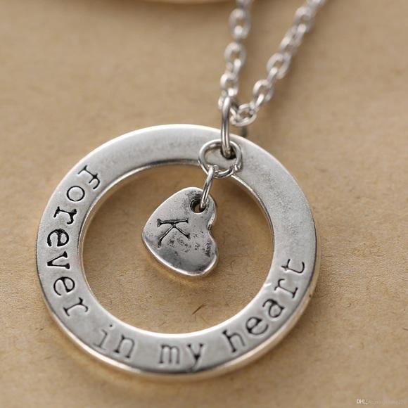Maisonlarochelle jewelry 2 for 22 k initial forever in my heart 2 for 22 k initial forever in my heart necklace aloadofball Choice Image