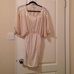 1d5a7d618d ... short dress for prom Gold designed dress Nude dress ...