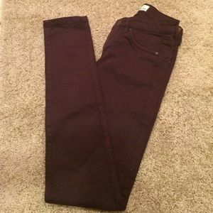 Garage Denim - Purple High Waist Skinny Jegging
