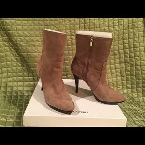 Tan Suede  HH Boots by Banana Republic  9.5M