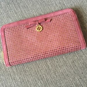 Tory Burch All Over Crystal Zip Wallet