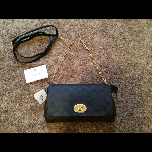 af4f3830e5f1 New coach signature mini ruby crossbody bag clutch NWT