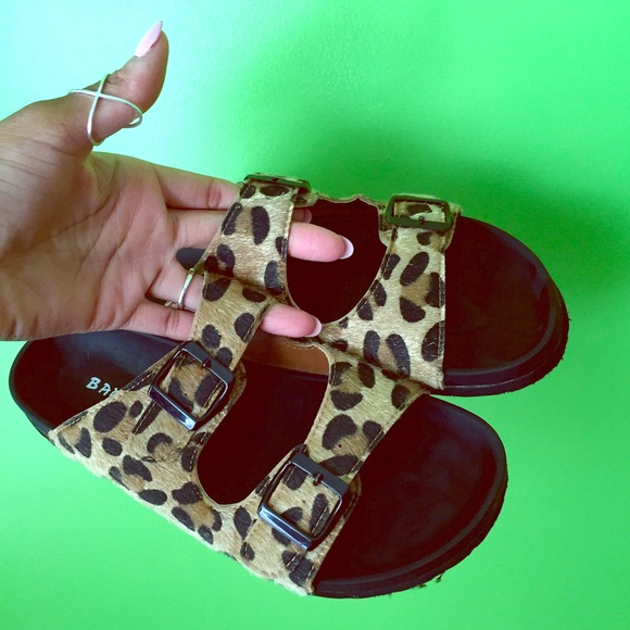 0e164f9bdf2 Bamboo Shoes - Leopard print Birkenstock style sandals