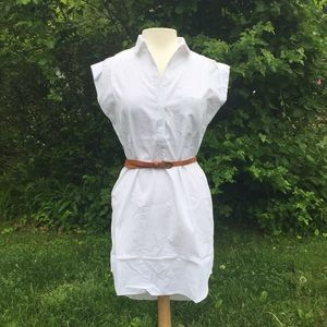 White Belted Shirt Dress-LARGE🌷