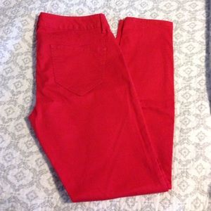 London Jean Pants - Red Skinny Jeans