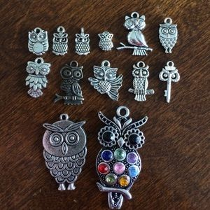 Accessories - Owl charm options.