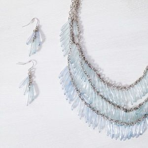 | new | light blue statement necklace