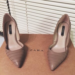 Zara pleated court shoes