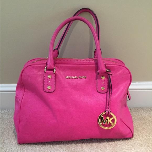 Used Michael Kors Handbags >> Michael Kors Bags Hot Pink Used Purse Poshmark